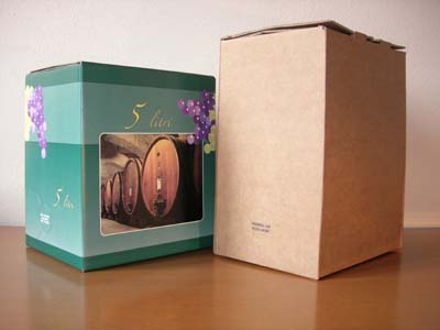 Bag in box: SACCA (BAG) + SCATOLA (BOX) da 3, 5, 10 e 20 litri